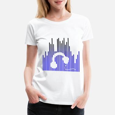 Raven EQUALIZER and Headphones - Women's Premium T-Shirt