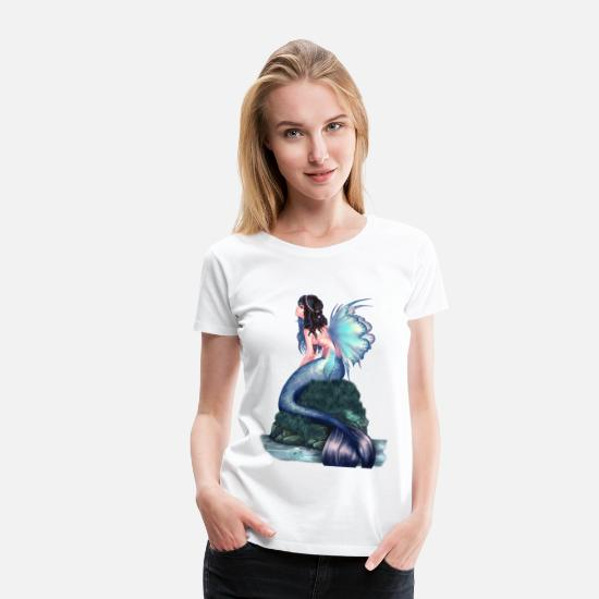 Mermaid T-Shirts - mermaid - Women's Premium T-Shirt white