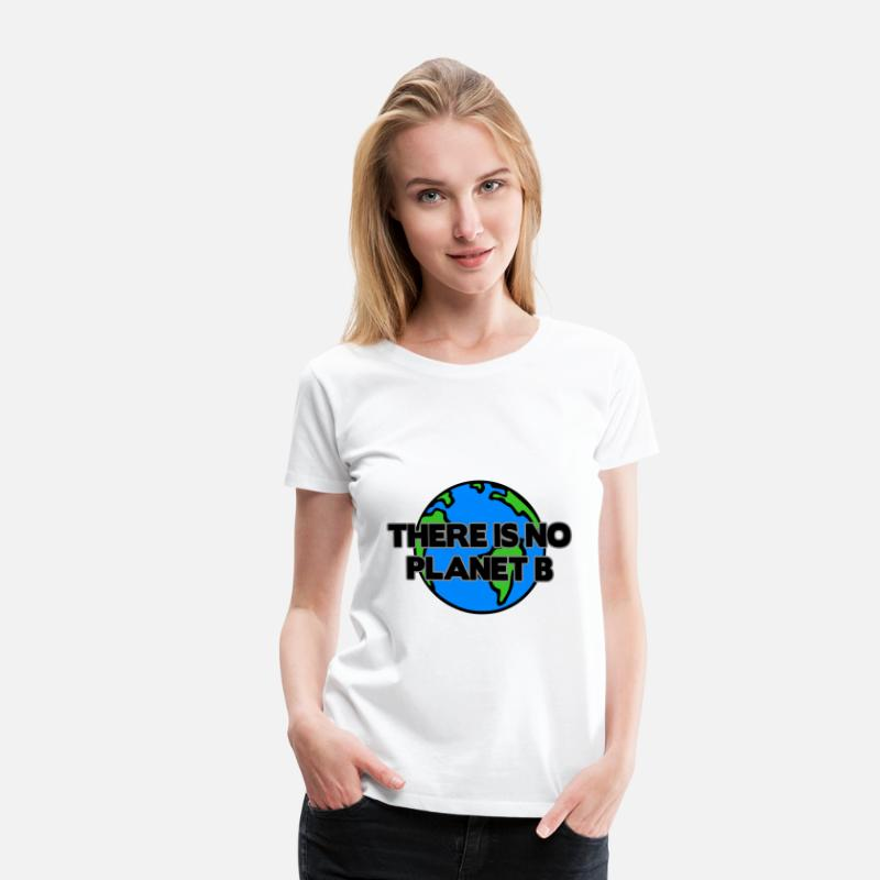 Planet T-Shirts - Save earth - Climate Change and Global Warming - Women's Premium T-Shirt white