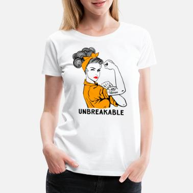 Multiple Sclerosis MS Warrior Unbreakable - Multiple Sclerosis - Women's Premium T-Shirt