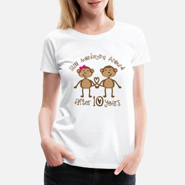 Ten Years After 10th Anniversary funny monkeys - Women's Premium T-Shirt