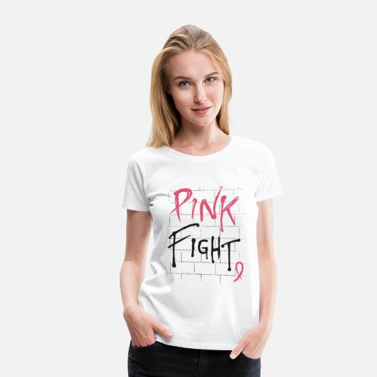 Cancer T-Shirts - Breast Cancer Awareness Pink Fight Breast Cancer R - Women's Premium T-Shirt white