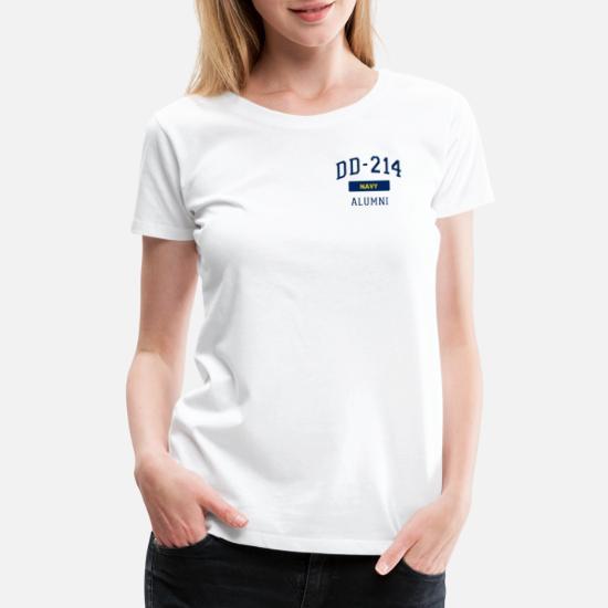 6b922221 Veteran T-Shirts - DD214 U.S. Navy Alumni T Shirt Veteran Pocket - Women's  Premium