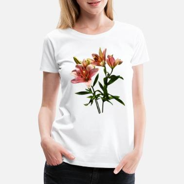 Floral Pink Lily Trio - Women's Premium T-Shirt