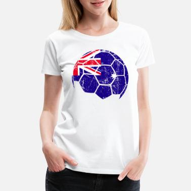 Australia Football Team Australia Soccer Football Ball - Women's Premium T-Shirt
