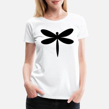 Silhouette Insects Dragonfly insect gift idea - Women's Premium T-Shirt