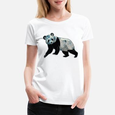 Graphics Vector-design Vector-graphic Abstract Panda Design - Women's Premium T-Shirt