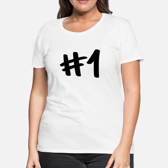 e728599e Number One Hashtag 1 for winner Women's Premium T-Shirt   Spreadshirt