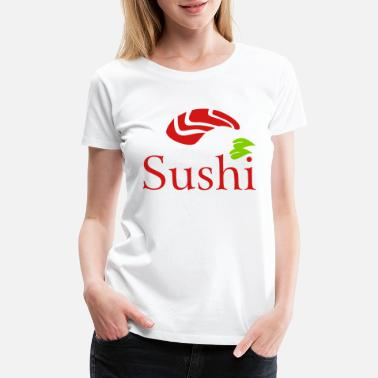 Bamboo Sushi Logo fish china town - Women's Premium T-Shirt