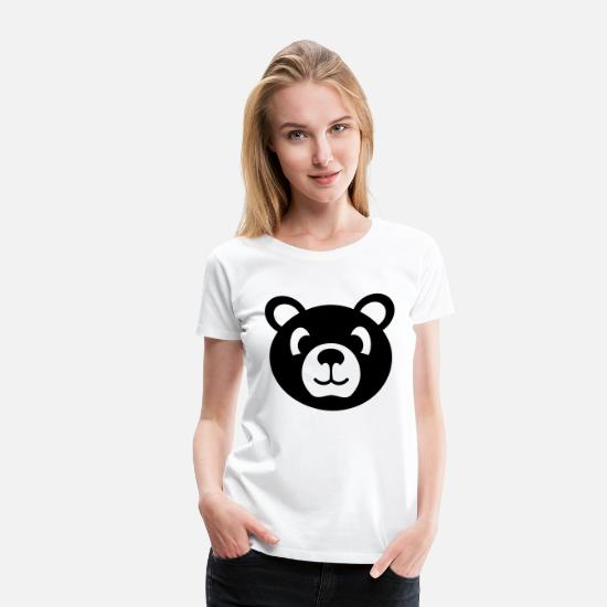 Grizzly T-Shirts - bear stuffed animal for kids - Women's Premium T-Shirt white