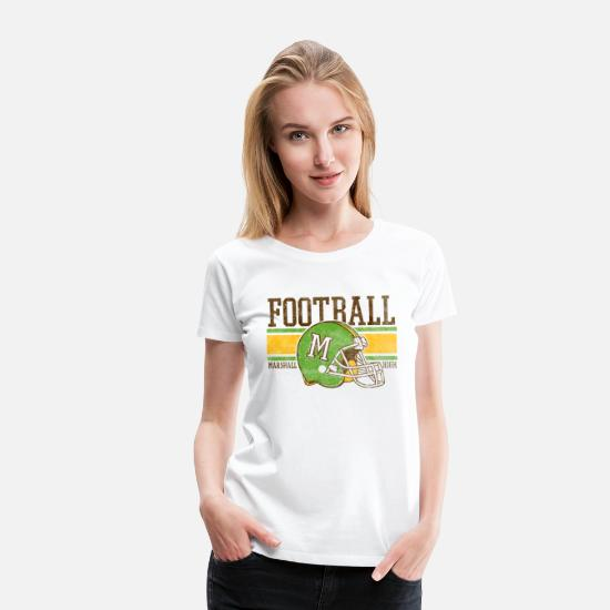 Game T-Shirts - FOOTBALL M MARSHALL HIGH - Women's Premium T-Shirt white