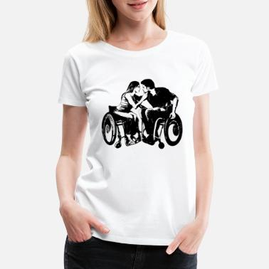 Wheelchair wheelchair love - Women's Premium T-Shirt