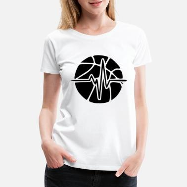 Basketball Heart bball heart - Women's Premium T-Shirt
