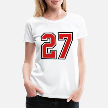 Jersey Number 27 sports jersey football number - Women's Premium T-Shirt
