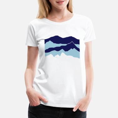 Carpathian mountains - hill - nature - waves - water - Women's Premium T-Shirt