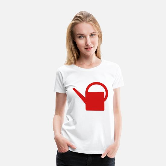 Watering Can T-Shirts - Watering can - Women's Premium T-Shirt white