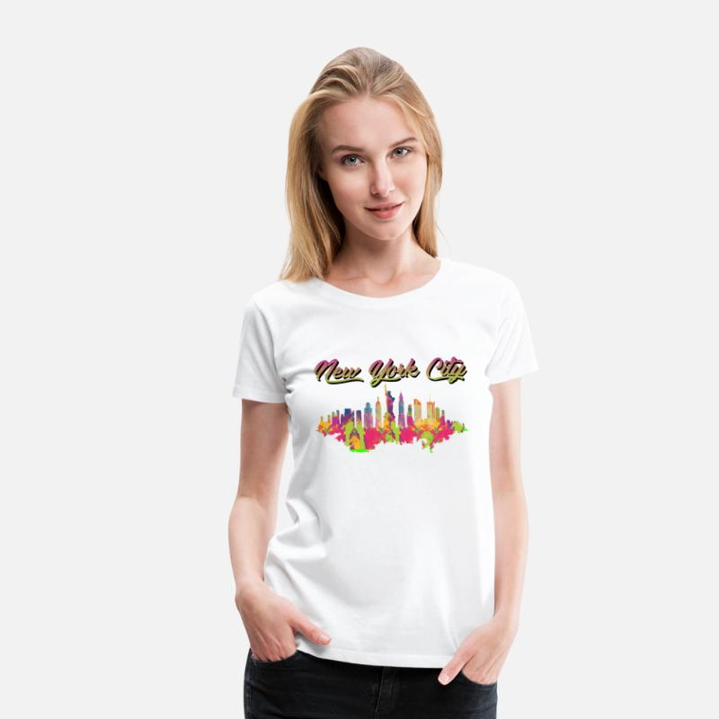 Patriot T-Shirts - Colorful New York City Product NYC Gifts For - Women's Premium T-Shirt white