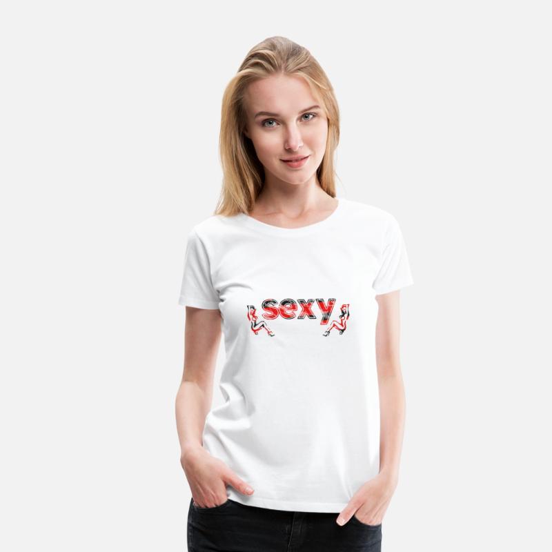 Erotic T-Shirts - sexy title - Women's Premium T-Shirt white