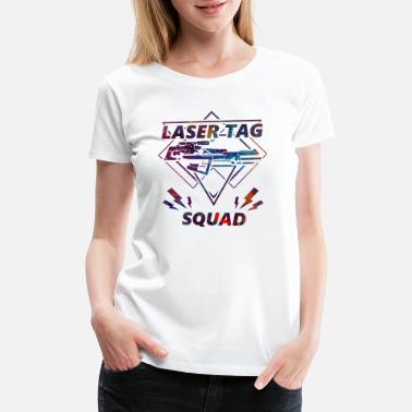 Survived Laser tag squad gun soldier sport gift - Women's Premium T-Shirt