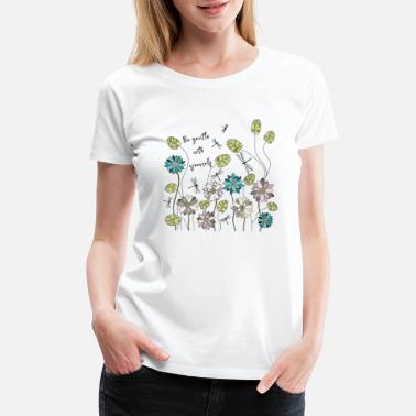 Ecofriendly Wildflower shirt, Flower Tee,Drawing Shirt, WYY017 - Women's Premium T-Shirt