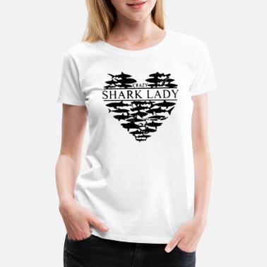20f0b7b9 Shark Lady Heart fish - Women's Premium T-Shirt