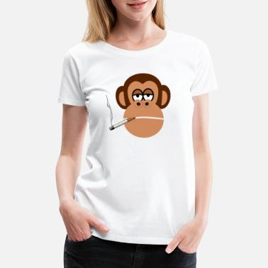 Smoking Monkey smoking monkey - Women's Premium T-Shirt