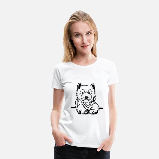Dog Owner T-Shirts - West Highland White Terrier - Women's Premium T-Shirt white