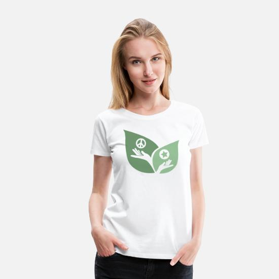 Enviromental T-Shirts - Nature Peace in our hands - Women's Premium T-Shirt white