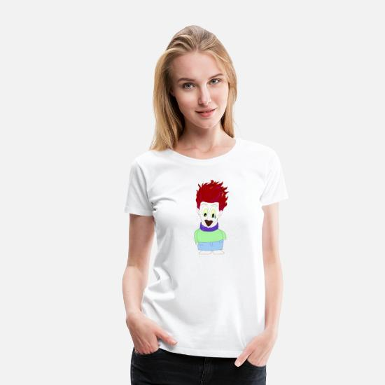 Manga T-Shirts - Manga Anime Fan - Women's Premium T-Shirt white