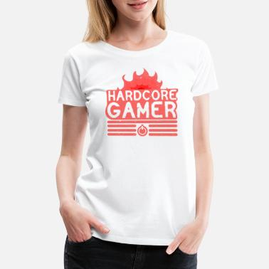 Hardcore Gamer Hardcore Gamer - Women's Premium T-Shirt