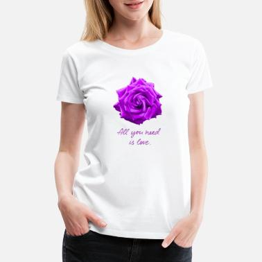 Purple Love Is All You Need 09 - Women's Premium T-Shirt