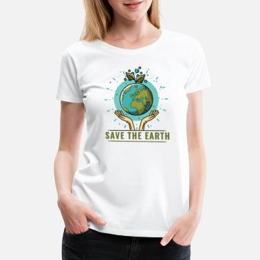 World Pollution Save the world no Plastic pollution ocean recycle - Women's Premium T-Shirt