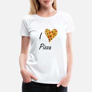 Diavolo I love Pizza Salami Cheese Gift Fast Food Deliciou - Women's Premium T-Shirt