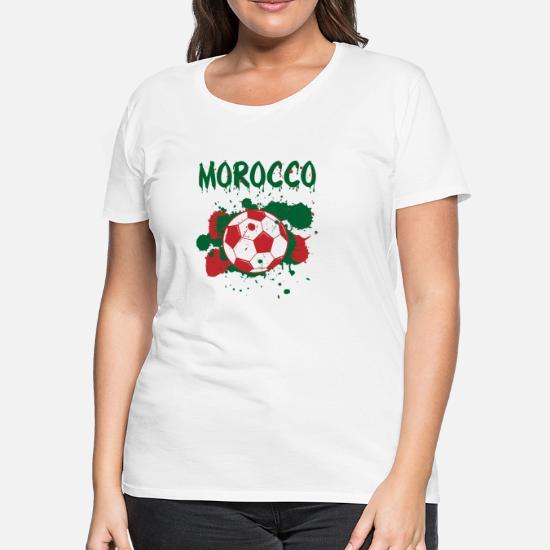 8e2adc88cc3 Women's Premium T-ShirtMorocco Soccer Shirt Fan Football Gift Funny Cool