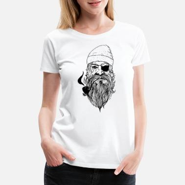 Asse Manga Bad Ass Pirate - Women's Premium T-Shirt