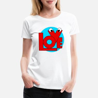February Love Love,february and valentine. - Women's Premium T-Shirt