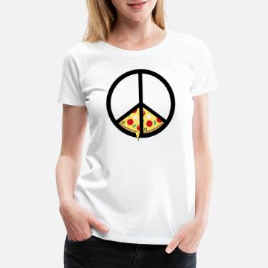Peace Love Pizza Pizza And Peace Gift Idea - Women's Premium T-Shirt