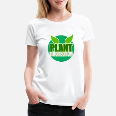 Thumbs Plant protector. Earth Day, natural reserve - Women's Premium T-Shirt