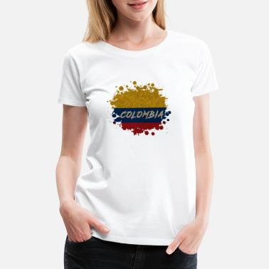 Colombian Flag Colombia blob Vintage / Gift National Flag - Women's Premium T-Shirt