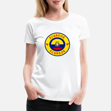 Ecuador Ecuador Circle / Gift National Flag Present - Women's Premium T-Shirt