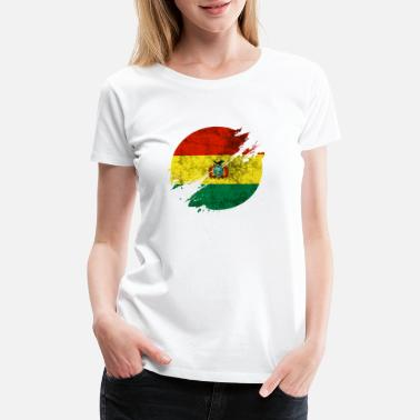 National Colors Bolivia circle blurry vintage / gift Sucre La Paz - Women's Premium T-Shirt