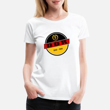 East Berlin DDR / GDR Vintage Design with National Colours - Women's Premium T-Shirt