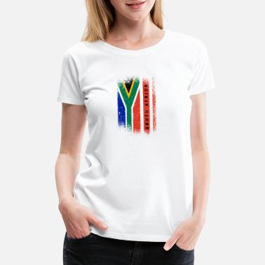 National Colours South Africa Flag / Gift Cape Town Johannesburg - Women's Premium T-Shirt