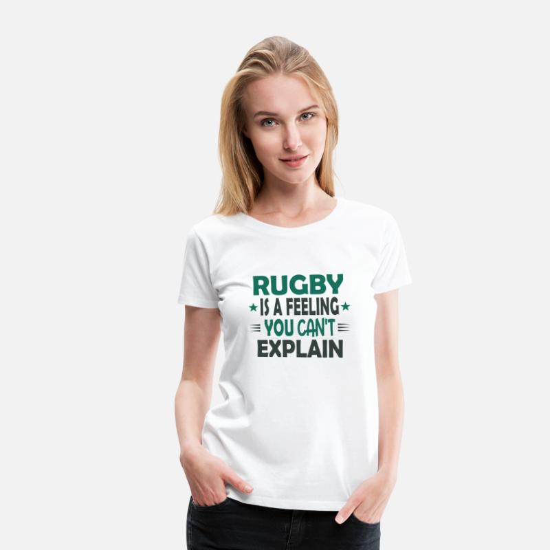 Cute Comic Retro Rugby What Else Quote Funny Gift Women's Premium T-Shirt -  white
