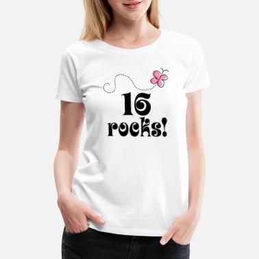 16th Birthday 16th Birthday 16 Rocks - Women's Premium T-Shirt