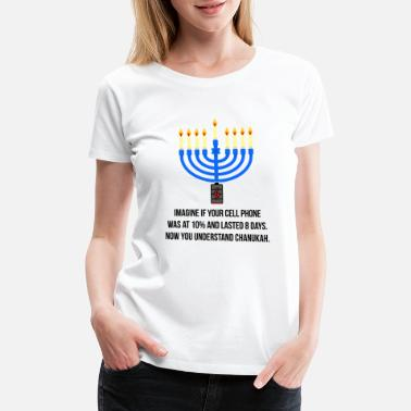 Menorah Miracle of Chanukah Hanukkah Menorah Funny - Women's Premium T-Shirt