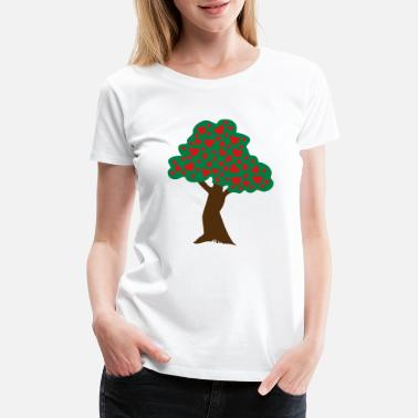 Apple Tree ❤ټRomantic Heart Tree-Plant Love Treesټ❤ - Women's Premium T-Shirt