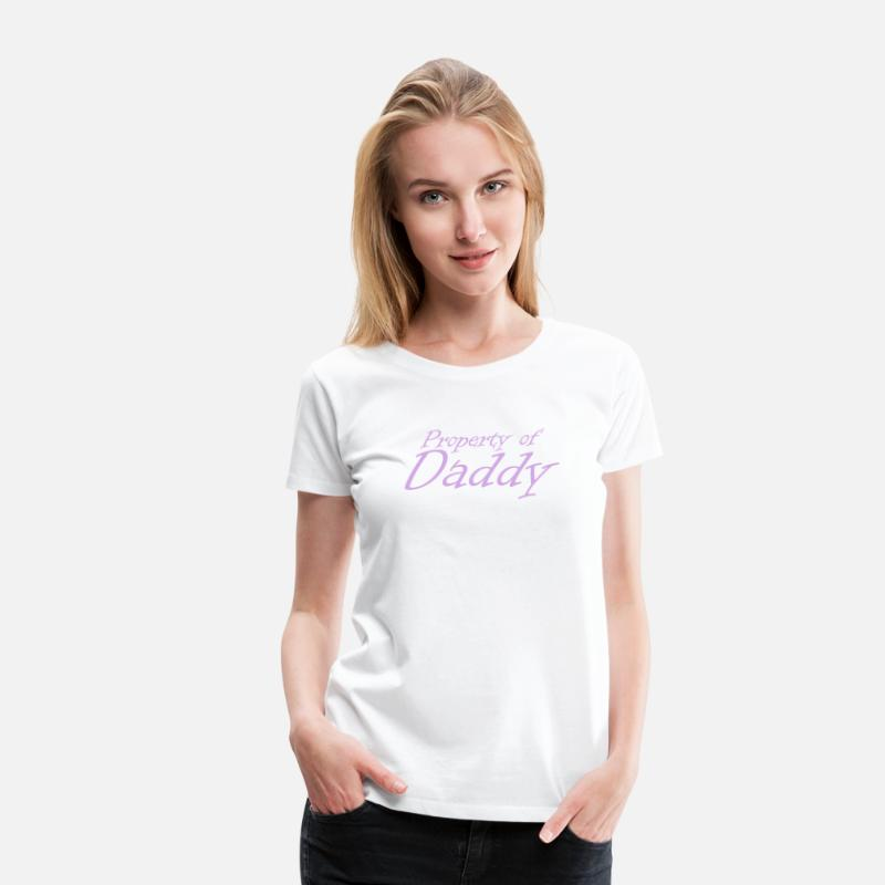 Love T-Shirts - Property of Daddy DDLG Brat Little BDSM Submissive - Women's Premium T-Shirt white