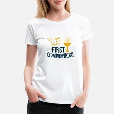 Holy Communion Holy Communion Catholic Grandson Granddaughter - Women's Premium T-Shirt