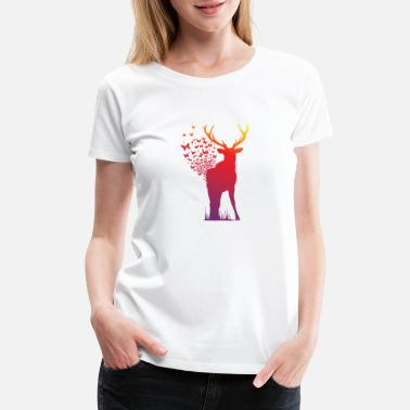 Ambient Ambient Butterfly Dispersion Elk - Women's Premium T-Shirt